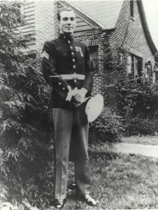 Sgt. Clyde Thomason, the first enlisted Marine recipient of the Medal of Honor