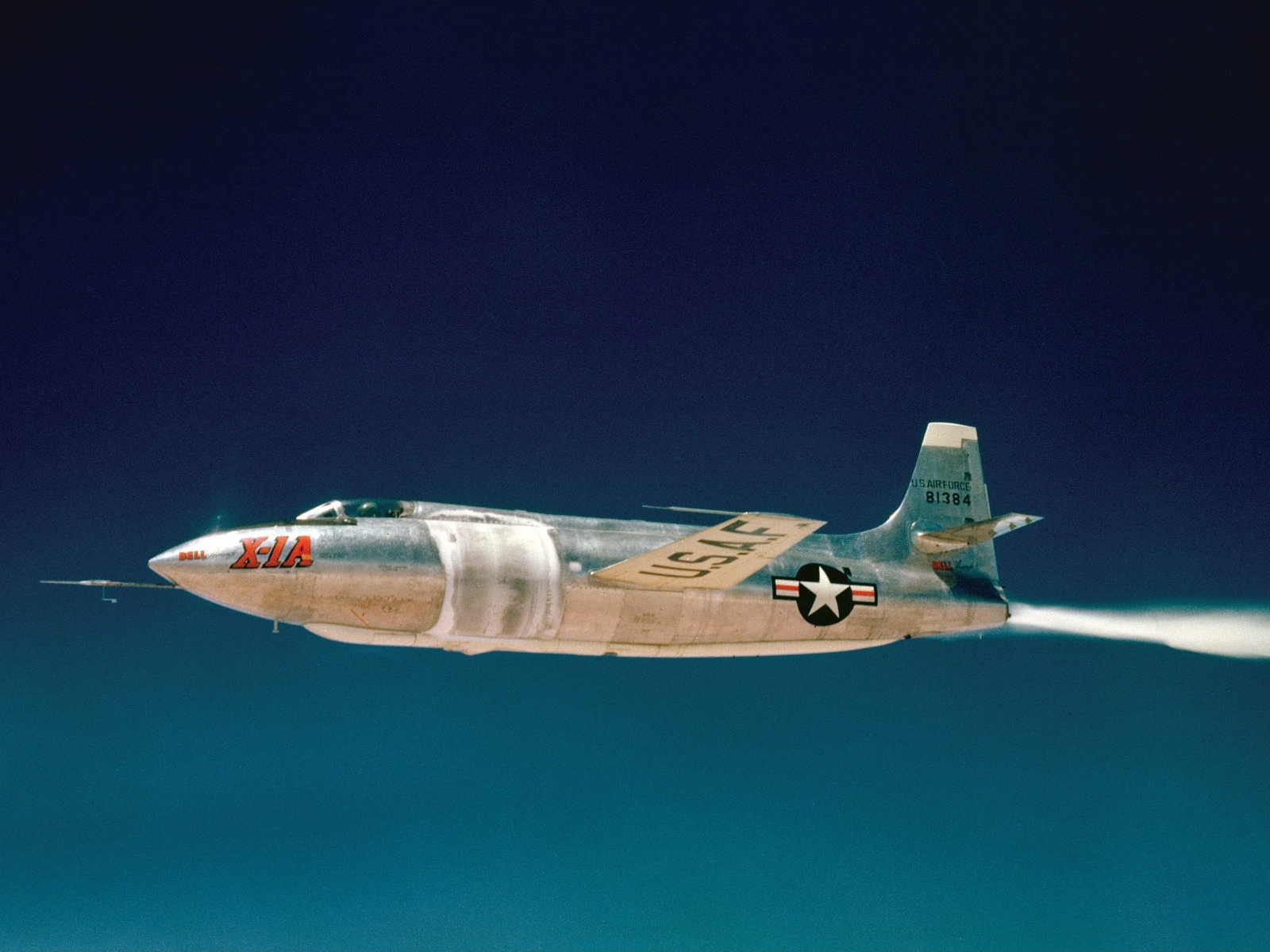 Bell X-1A, Chuck Yeager, USAF